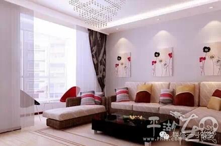 实例,适合两室两厅的中户型.   3万元搞定三室两厅装修,值得